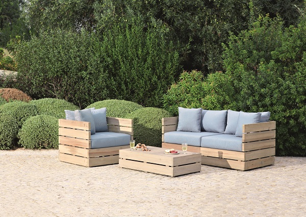 diy outdoor garden furniture diy pallet lounge chair outdoor furniture ...