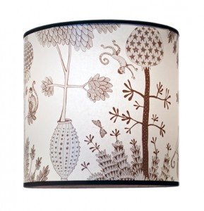 Lampshade monkey brown & grey