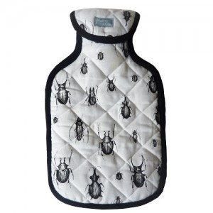 Blk Beetle hotwater bottle by warbeck & cox