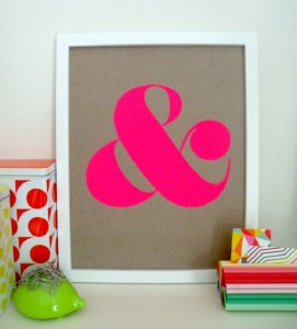 Ampersand Screen Print, Shopampersand on Etsy