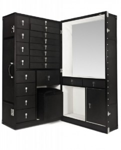 Denver Campaign Dressing Table Unit, Black Orchid Interiors