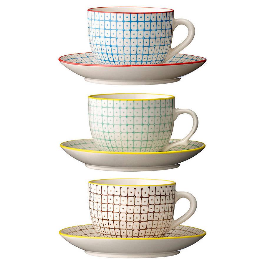 Carla Retro Tea Cup and Saucer
