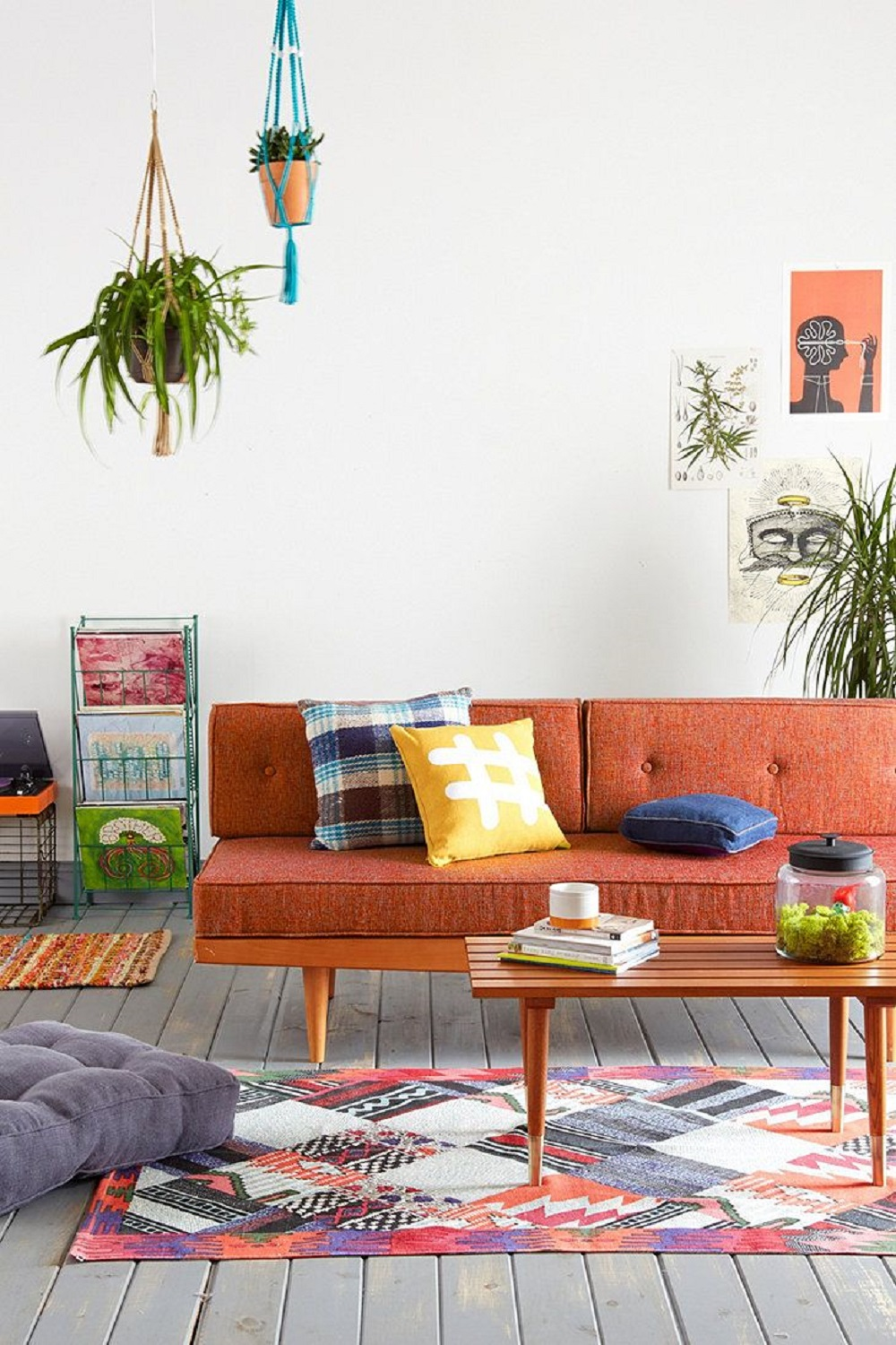 Urban outfitters showcases eclectic retro furniture styles for Eclectic style furniture
