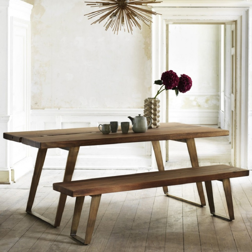 Wooden dining tables and benches homegirl london for Kitchen dining furniture