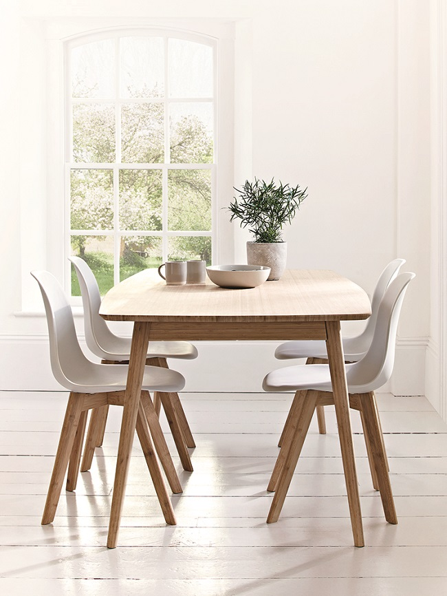 Scandinavian style dining room furniture homegirl london for Dining room table and 4 chairs